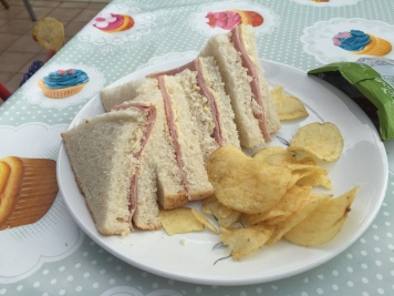 Child's ham sandwich