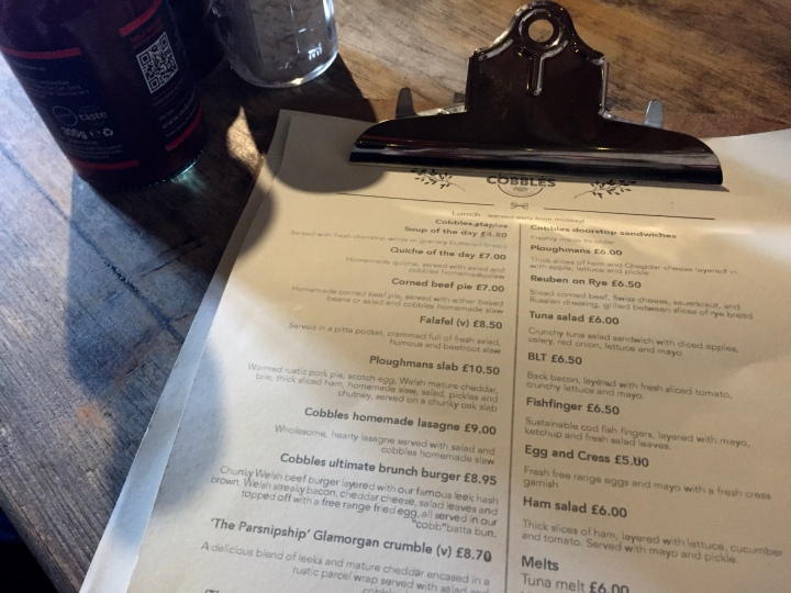 Menu at Cobbles Kitchen