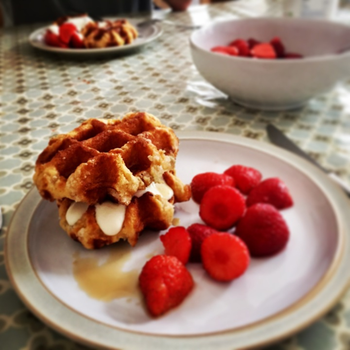 hendrewennol strawberries and waffles