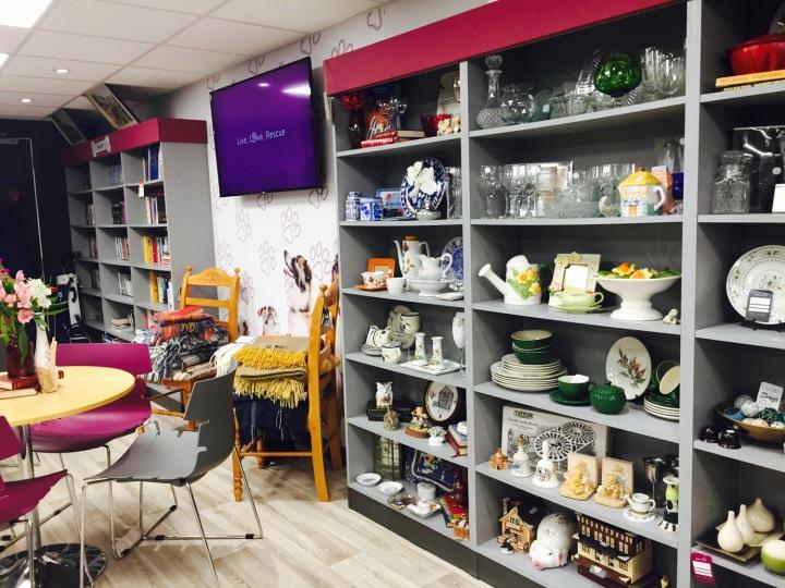 Hope Rescue Cafe Shop Shelves