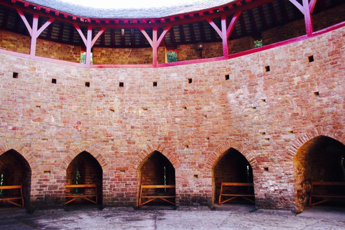 Castell Coch courtyard
