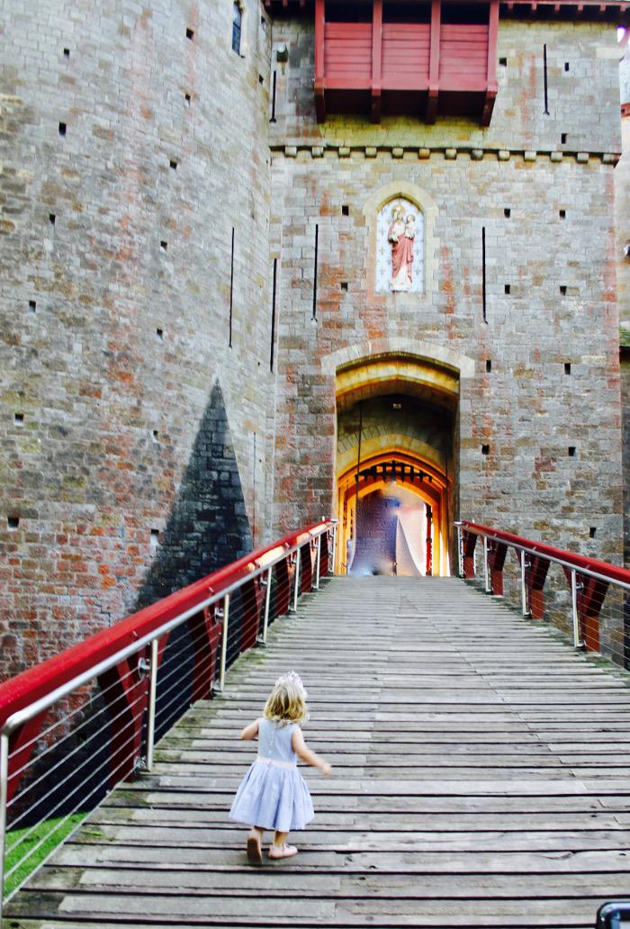 Castell Coch fairy on drawbridge