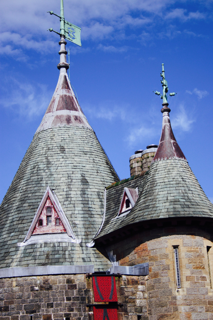 Castell Coch roof tops