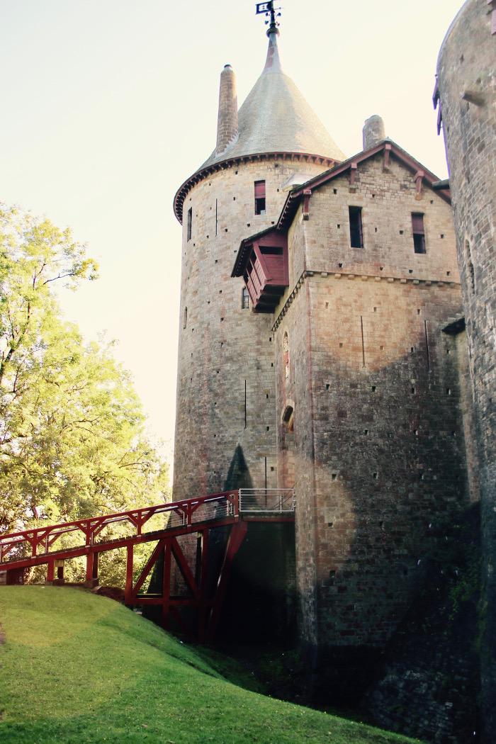 Castell Coch view of drawbridge